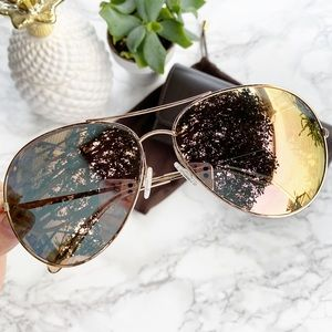 Oliver Peoples 'Sayer' Mirrored Aviator Sunglasses